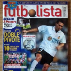 Coleccionismo deportivo: REVISTA FUTBOLISTA NUM. 1 JUNIO 2003 INCLUYE POSTER DOBLE ZIDANE REAL MADRID Y KLUIVERT FC BARCELONA. Lote 213039630