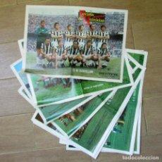 Coleccionismo deportivo: 13 POSTERS EQUIPOS DE FÚTBOL REVISTA DE QUINIELAS PUEBLO. Lote 213342650