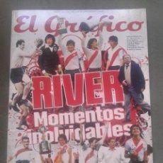 Coleccionismo deportivo: EL GRAFICO RIVER MOMENTOS INOLVIDABLES. Lote 213375578