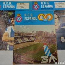 Colecionismo desportivo: RCD ESPAÑOL. LOTE DE 3 REVISTAS AÑOS 1970. NºS 10-16-23. Lote 213380925