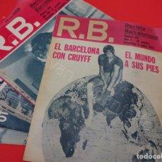 Coleccionismo deportivo: REVISTA BARCELONISTA. LOTE 24 REVISTAS ENTRE Nº 398 (1972) Y Nº 457 (1954). Lote 214285508