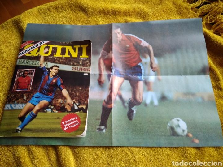 CONOZCA A QUINI. ( SPORTING Y BARCELONA) INCLUYE LOS PÓSTER (AMBOS EN LA MISMA HOJA) . REVISTA 1982. (Coleccionismo Deportivo - Revistas y Periódicos - otros Fútbol)