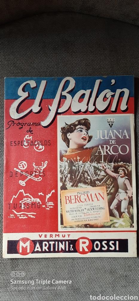 REVISTA DE FUTBOL EL BALÓN, PROGRAMA DE ESPECTÁCULOS, DEPORTES, TURISMO.10 DE DICIEMBRE DE 1949. (Coleccionismo Deportivo - Revistas y Periódicos - otros Fútbol)