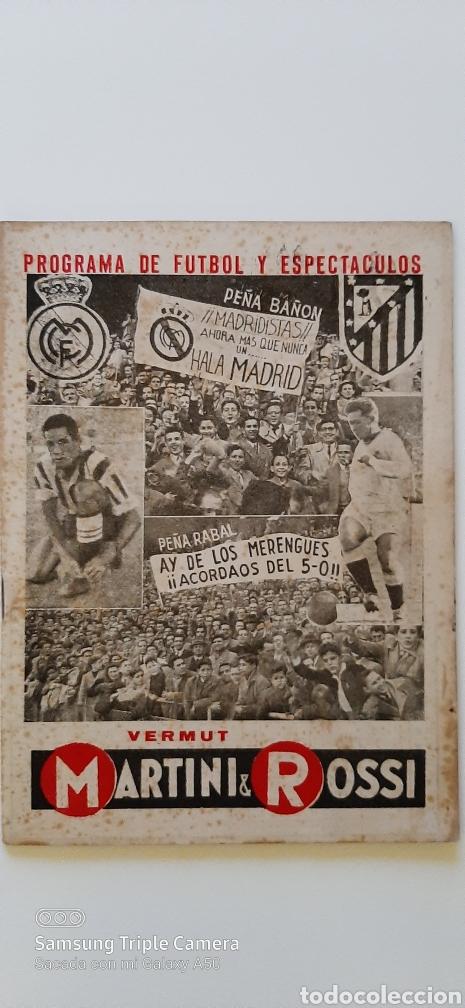 2 PROGRAMAS DE FÚTBOL Y ESPECTÁCULOS. BALÓN. REAL MADRID- AT DE MADRID (Coleccionismo Deportivo - Revistas y Periódicos - otros Fútbol)