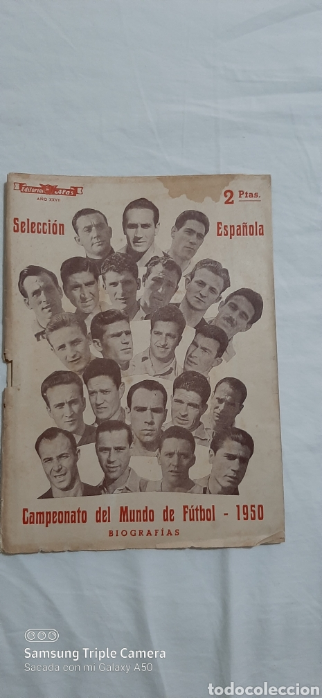 SELECCION ESPAÑOLA, CAMPEONATO DEL MUNDO DE 1950. (Coleccionismo Deportivo - Revistas y Periódicos - otros Fútbol)