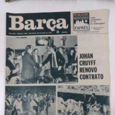 Collectionnisme sportif: REVISTA BARÇA NUM 1066 20!ABRIL 1976. CRUYFF. Lote 216558395