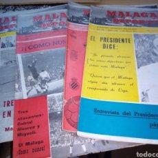 Collectionnisme sportif: CUATRO REVISTAS DE FÚTBOL. MÁLAGA DEPORTIVA. AÑOS 1970 Y 1971. Lote 216754891