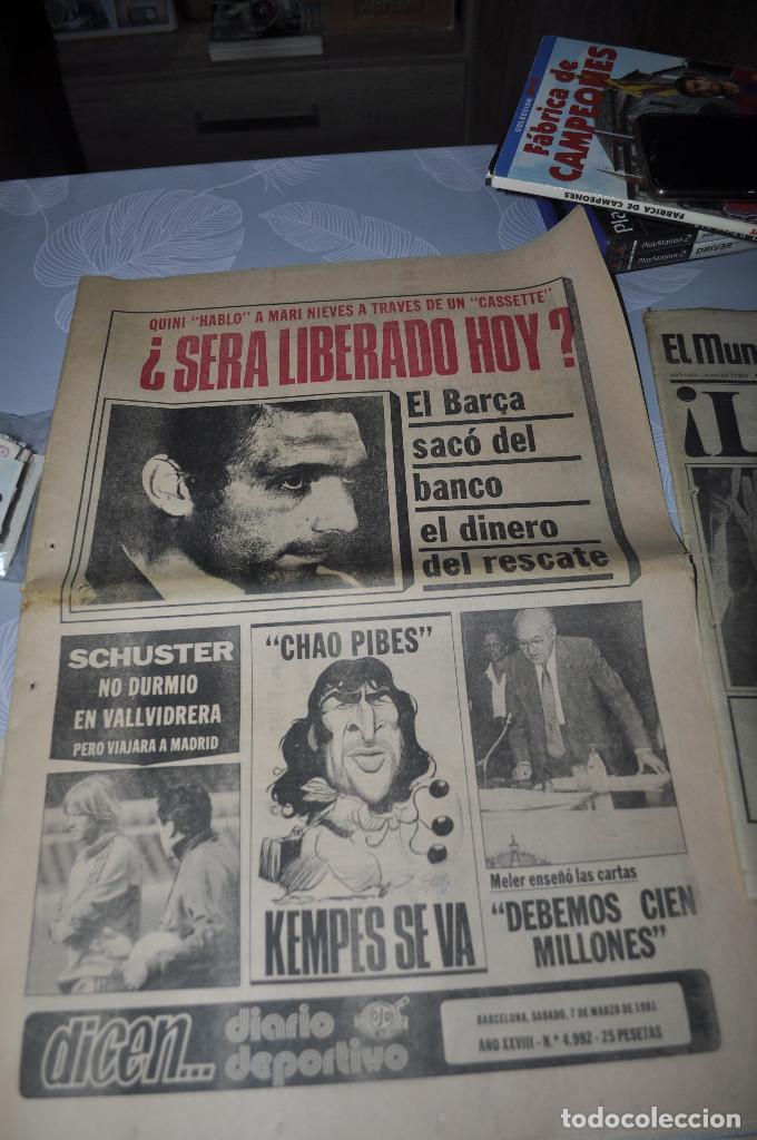 TEMÁTICA SECUESTRO QUINI. AÑO 1981. MUNDO DEPORTIVO, DICEN Y SPORT. 4 EJEMPLARES. (Coleccionismo Deportivo - Revistas y Periódicos - otros Fútbol)