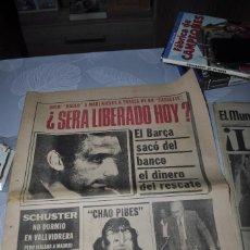 Coleccionismo deportivo: TEMÁTICA SECUESTRO QUINI. AÑO 1981. MUNDO DEPORTIVO, DICEN Y SPORT. 4 EJEMPLARES.. Lote 216863192