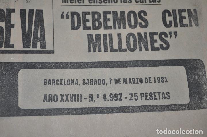 Coleccionismo deportivo: TEMÁTICA SECUESTRO QUINI. AÑO 1981. MUNDO DEPORTIVO, DICEN Y SPORT. 4 EJEMPLARES. - Foto 2 - 216863192