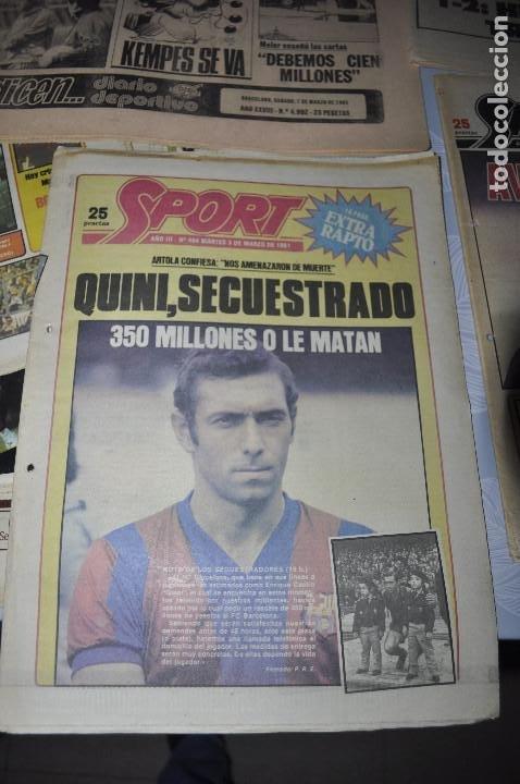 Coleccionismo deportivo: TEMÁTICA SECUESTRO QUINI. AÑO 1981. MUNDO DEPORTIVO, DICEN Y SPORT. 4 EJEMPLARES. - Foto 3 - 216863192