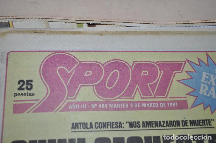 Coleccionismo deportivo: TEMÁTICA SECUESTRO QUINI. AÑO 1981. MUNDO DEPORTIVO, DICEN Y SPORT. 4 EJEMPLARES. - Foto 4 - 216863192