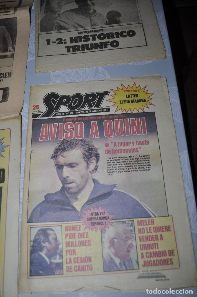 Coleccionismo deportivo: TEMÁTICA SECUESTRO QUINI. AÑO 1981. MUNDO DEPORTIVO, DICEN Y SPORT. 4 EJEMPLARES. - Foto 7 - 216863192