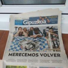 Coleccionismo deportivo: NOTICIAS DE GIPUZKOA 2007 / DESCENSO REAL SOCIEDAD DE FUTBOL. Lote 217374042
