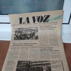 Coleccionismo deportivo: LA VOZ DE EUSKADI REAL SOCIEDAD DE FUTBOL 1983. Lote 217374286