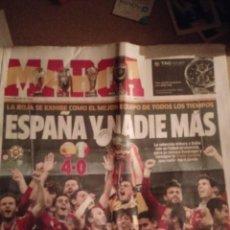 Coleccionismo deportivo: MARCA 2 JULIO 2012 ESPAÑA CAMPEONA EUROPA DE FUTBOL MUY BUEN ESTADO. Lote 217599580