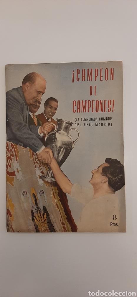 CAMPEÓN DE CAMPEONES. LA TEMPORADA CUMBRE DEL REAL MADRID. REVISTA CARETA.1956-57. (Coleccionismo Deportivo - Revistas y Periódicos - otros Fútbol)