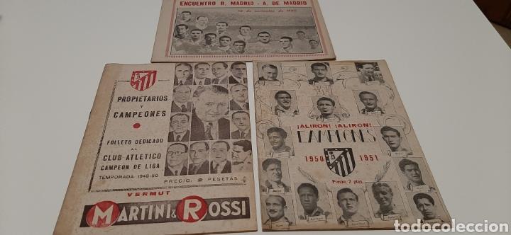 LOTE AT. DE MADRID.VER DESCRIPCIÓN (Coleccionismo Deportivo - Revistas y Periódicos - otros Fútbol)