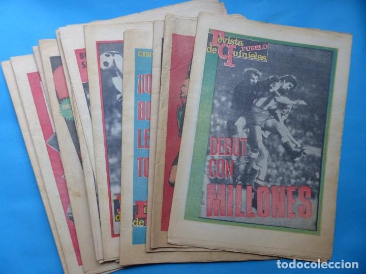 REVISTA PUEBLO DE QUINIELAS - 13 REVISTAS - AÑOS 1970 - VER FOTOS ADICIONALES (Coleccionismo Deportivo - Revistas y Periódicos - otros Fútbol)