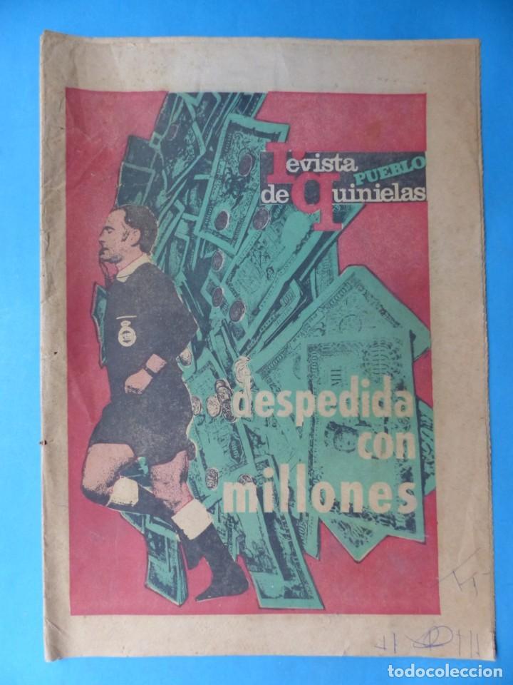 Coleccionismo deportivo: REVISTA PUEBLO DE QUINIELAS - 13 REVISTAS - AÑOS 1970 - VER FOTOS ADICIONALES - Foto 5 - 217735236