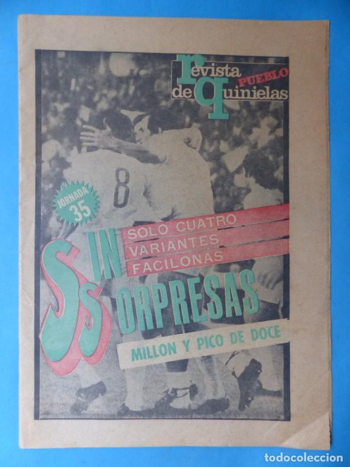 Coleccionismo deportivo: REVISTA PUEBLO DE QUINIELAS - 13 REVISTAS - AÑOS 1970 - VER FOTOS ADICIONALES - Foto 7 - 217735236