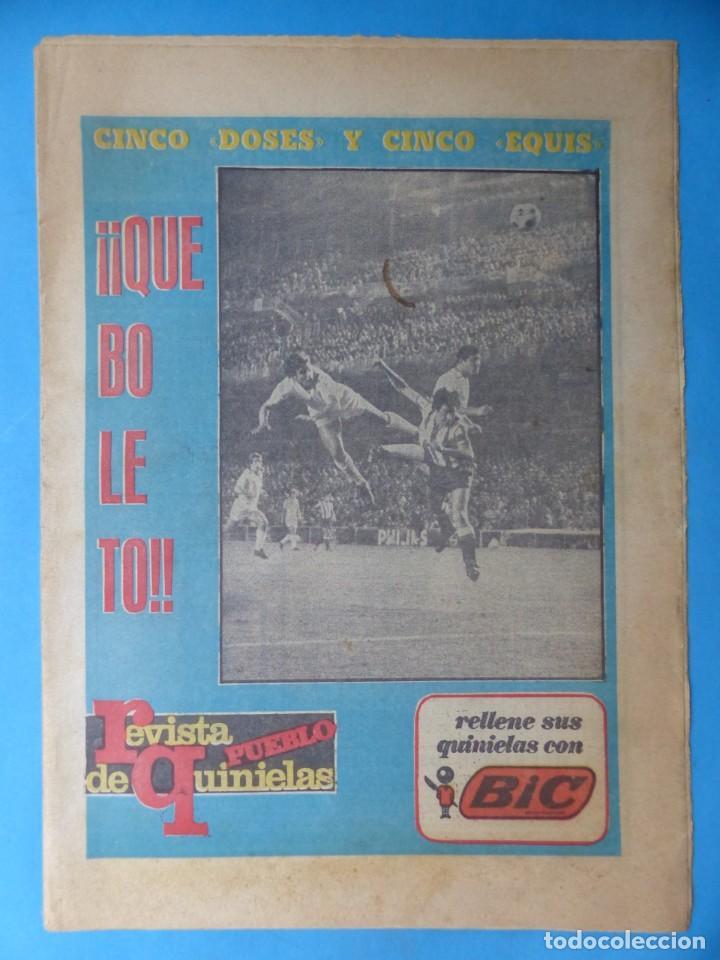 Coleccionismo deportivo: REVISTA PUEBLO DE QUINIELAS - 13 REVISTAS - AÑOS 1970 - VER FOTOS ADICIONALES - Foto 9 - 217735236