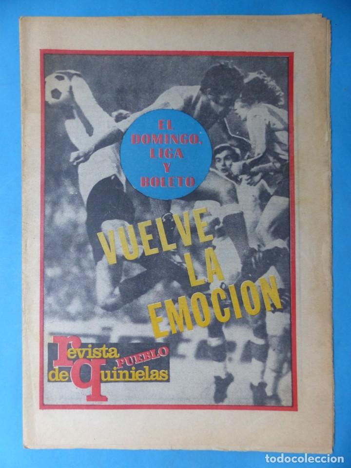 Coleccionismo deportivo: REVISTA PUEBLO DE QUINIELAS - 13 REVISTAS - AÑOS 1970 - VER FOTOS ADICIONALES - Foto 11 - 217735236