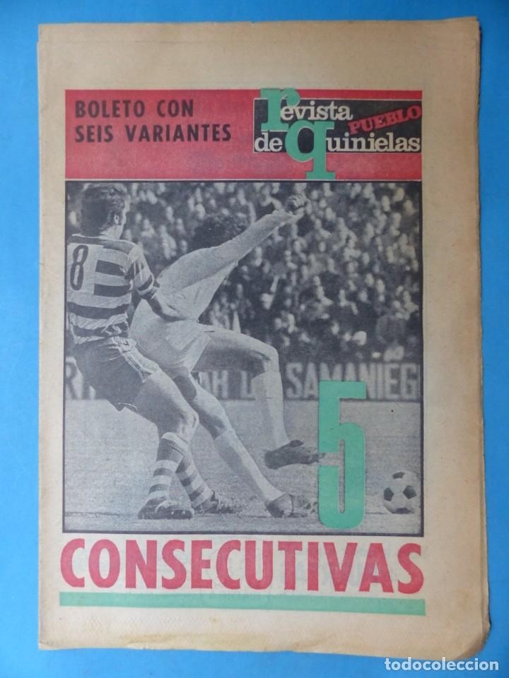 Coleccionismo deportivo: REVISTA PUEBLO DE QUINIELAS - 13 REVISTAS - AÑOS 1970 - VER FOTOS ADICIONALES - Foto 13 - 217735236