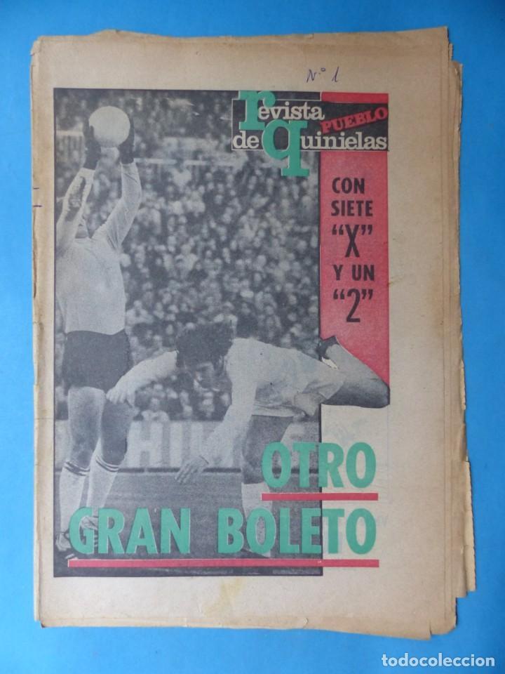 Coleccionismo deportivo: REVISTA PUEBLO DE QUINIELAS - 13 REVISTAS - AÑOS 1970 - VER FOTOS ADICIONALES - Foto 15 - 217735236