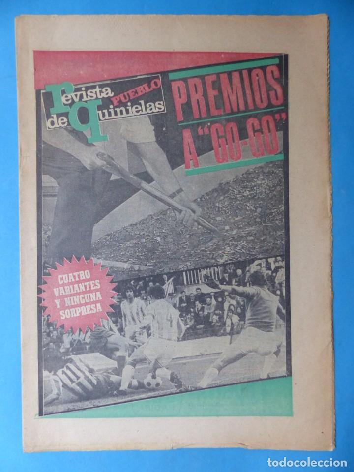 Coleccionismo deportivo: REVISTA PUEBLO DE QUINIELAS - 13 REVISTAS - AÑOS 1970 - VER FOTOS ADICIONALES - Foto 17 - 217735236