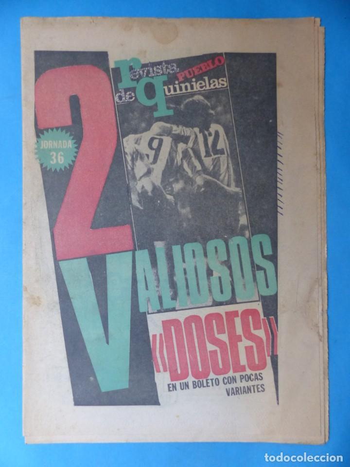 Coleccionismo deportivo: REVISTA PUEBLO DE QUINIELAS - 13 REVISTAS - AÑOS 1970 - VER FOTOS ADICIONALES - Foto 19 - 217735236