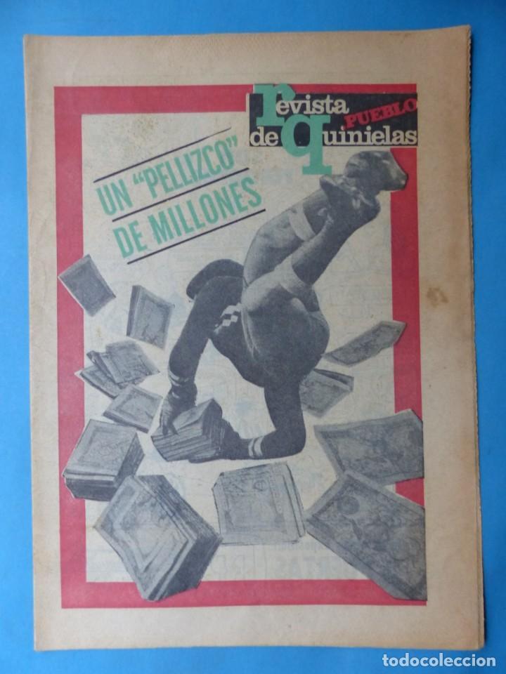 Coleccionismo deportivo: REVISTA PUEBLO DE QUINIELAS - 13 REVISTAS - AÑOS 1970 - VER FOTOS ADICIONALES - Foto 23 - 217735236