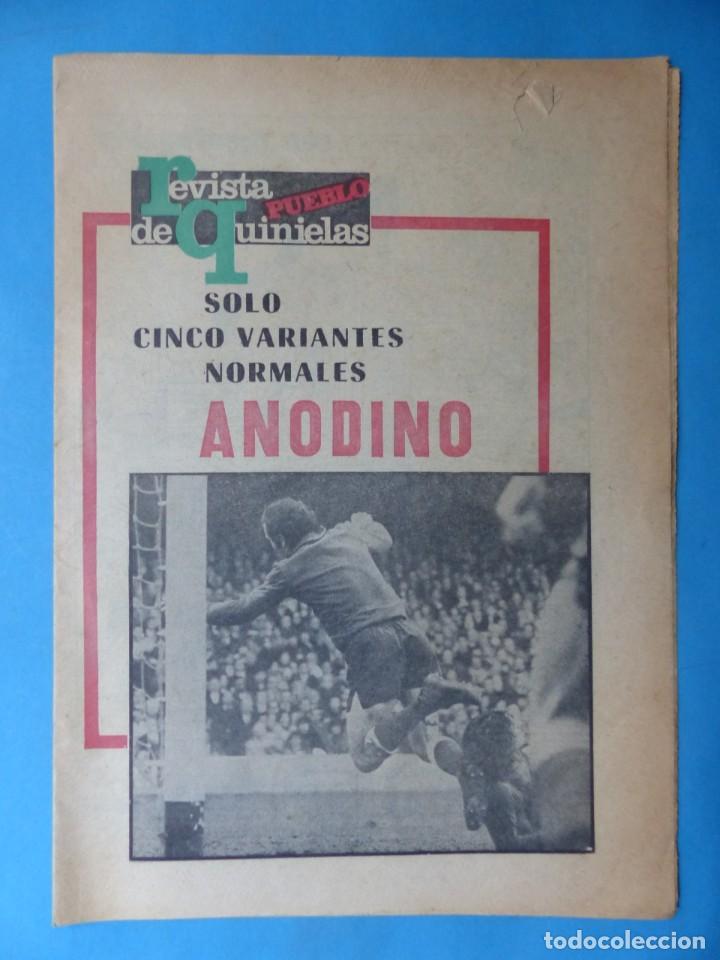 Coleccionismo deportivo: REVISTA PUEBLO DE QUINIELAS - 13 REVISTAS - AÑOS 1970 - VER FOTOS ADICIONALES - Foto 27 - 217735236