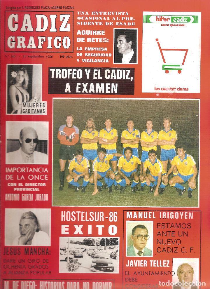 CÁDIZ GRÁFICO. TROFEO RAMÓN DE CARRANZA 1986 BETIS BOTAFOGO SPORTING LISBOA (Coleccionismo Deportivo - Revistas y Periódicos - otros Fútbol)