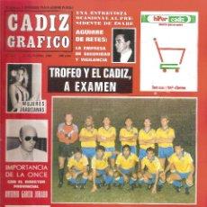 Coleccionismo deportivo: CÁDIZ GRÁFICO. TROFEO RAMÓN DE CARRANZA 1986 BETIS BOTAFOGO SPORTING LISBOA. Lote 218812677
