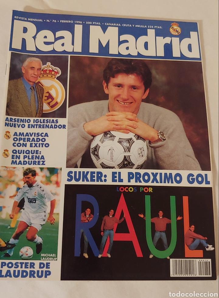 REVISTA REAL MADRID NÚMERO 76 FEBRERO 1996 (Coleccionismo Deportivo - Revistas y Periódicos - otros Fútbol)