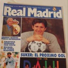 Coleccionismo deportivo: REVISTA REAL MADRID NÚMERO 76 FEBRERO 1996. Lote 218837613