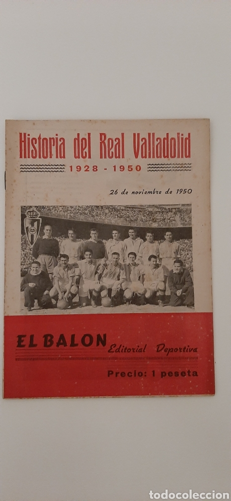 EL BALON.HISTORIA DEL REAL VALLADOLID.1928-1950.26 DE NOVIEMBRE DE 1950. (Coleccionismo Deportivo - Revistas y Periódicos - otros Fútbol)