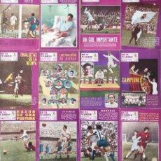 Coleccionismo deportivo: LOTE 12 REVISTAS REAL MADRID BOLETIN OFICIAL - AÑO 1971 COMPLETO - REVISTA DEL 248 AL 259. Lote 219206427
