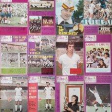 Coleccionismo deportivo: LOTE 12 REVISTAS REAL MADRID BOLETIN OFICIAL - AÑO 1972 COMPLETO - REVISTA DEL 260 AL 271. Lote 219206752