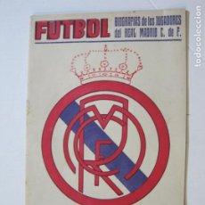 Coleccionismo deportivo: REAL MADRID-FUTBOL-BIOGRAFIAS DE LOS JUGADORES-EDITORIAL ALAS-VER FOTOS-(K-541). Lote 219232623