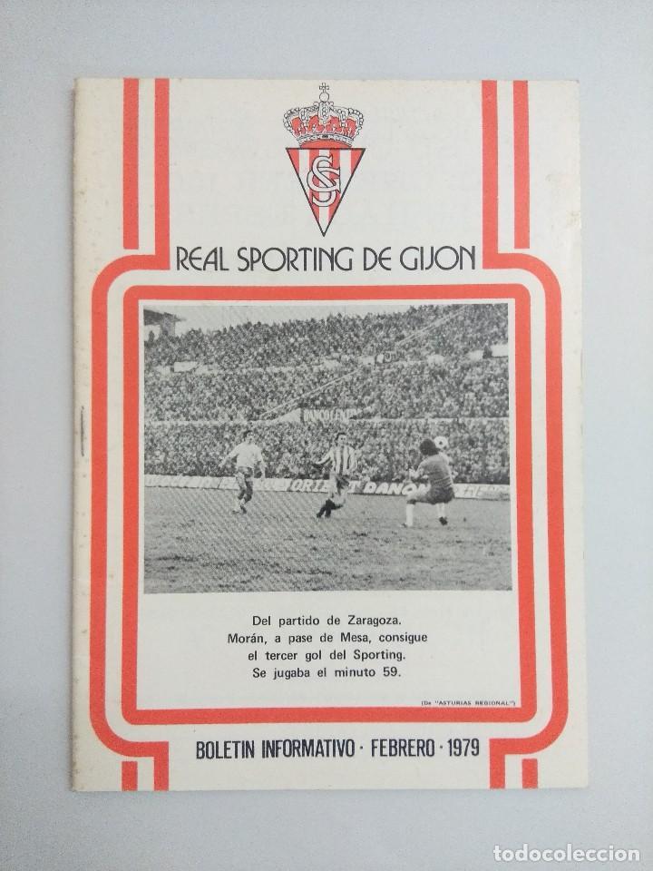 BOLETIN INFORMATIVO REAL SPORTING DE GIJON/FUTBOL AÑOS 70. (Coleccionismo Deportivo - Revistas y Periódicos - otros Fútbol)