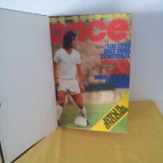 Coleccionismo deportivo: TOMO ENCUADERNADO - REVISTAS DE FUTBOL - VARIOS (ONCE, ÍDOLOS, DEPORTES EN ACCIÓN, AS EXTRA Y FUTGOL. Lote 219518283