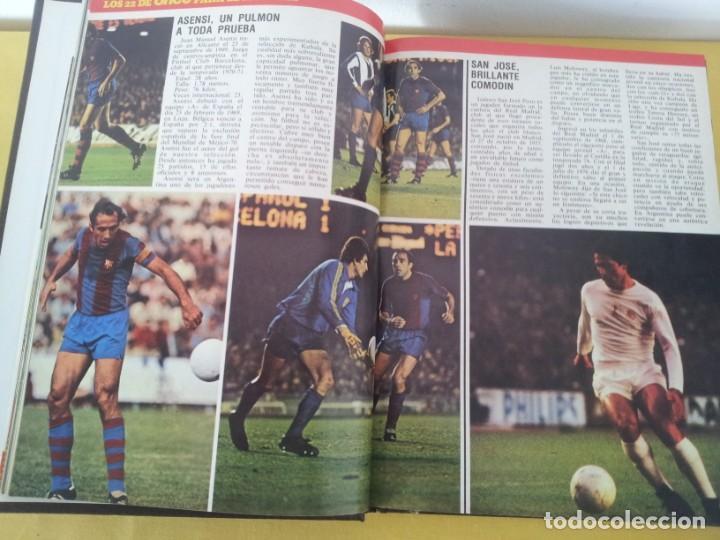 Coleccionismo deportivo: TOMO ENCUADERNADO - REVISTAS DE FUTBOL - VARIOS (ONCE, ÍDOLOS, DEPORTES EN ACCIÓN, AS EXTRA Y FUTGOL - Foto 2 - 219518283
