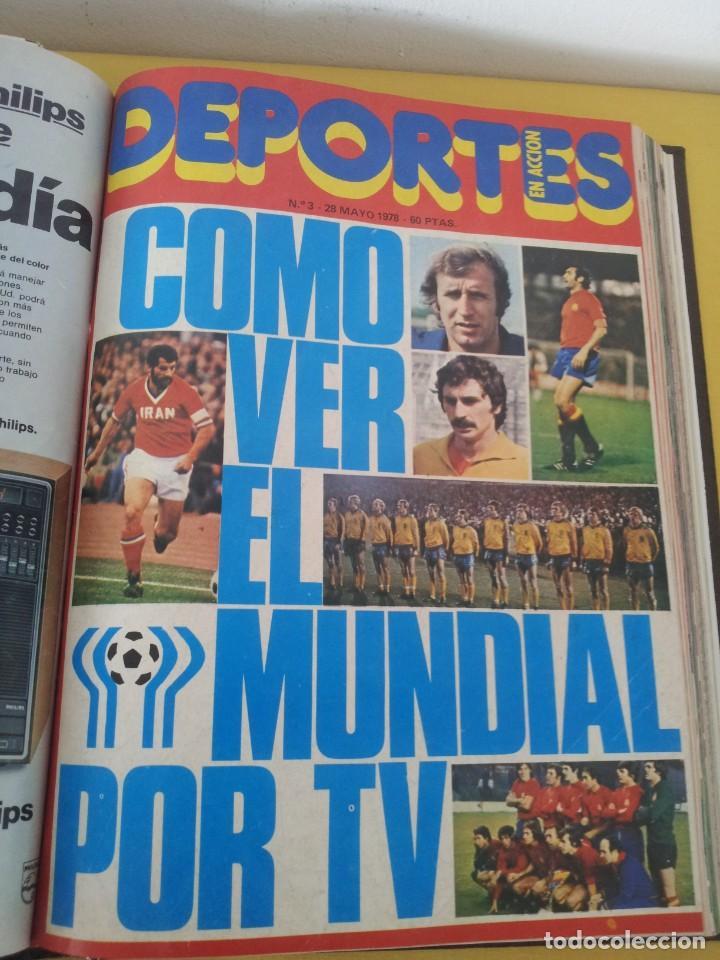 Coleccionismo deportivo: TOMO ENCUADERNADO - REVISTAS DE FUTBOL - VARIOS (ONCE, ÍDOLOS, DEPORTES EN ACCIÓN, AS EXTRA Y FUTGOL - Foto 7 - 219518283