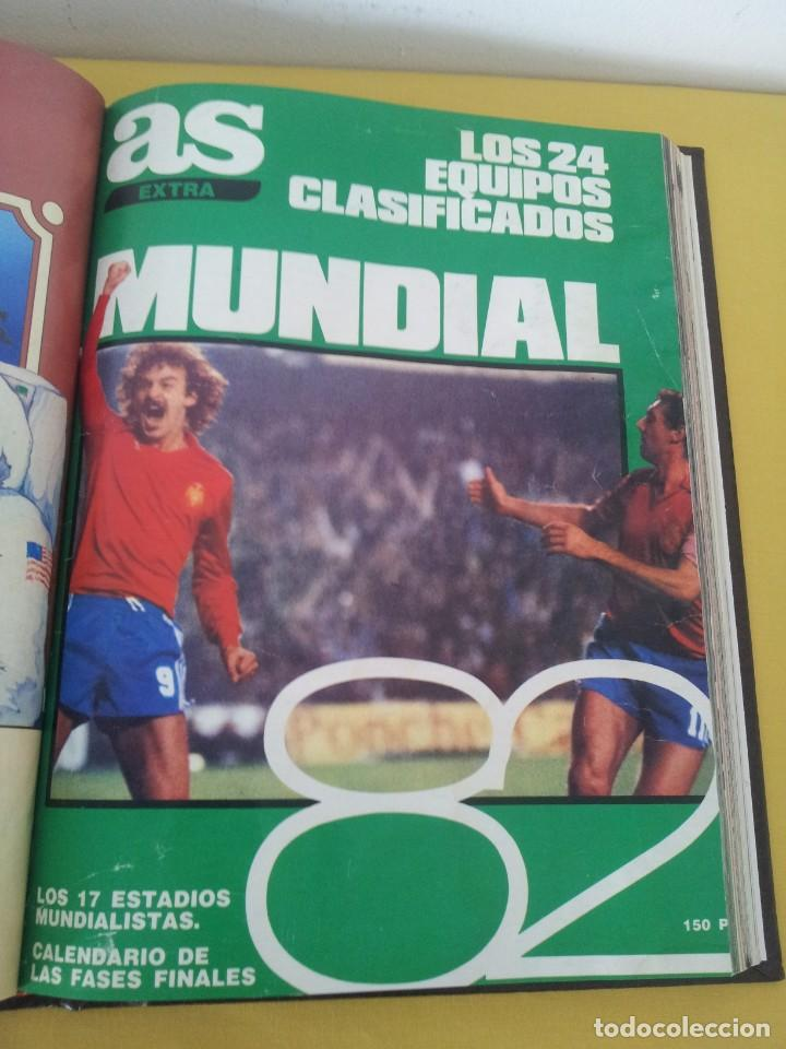 Coleccionismo deportivo: TOMO ENCUADERNADO - REVISTAS DE FUTBOL - VARIOS (ONCE, ÍDOLOS, DEPORTES EN ACCIÓN, AS EXTRA Y FUTGOL - Foto 9 - 219518283