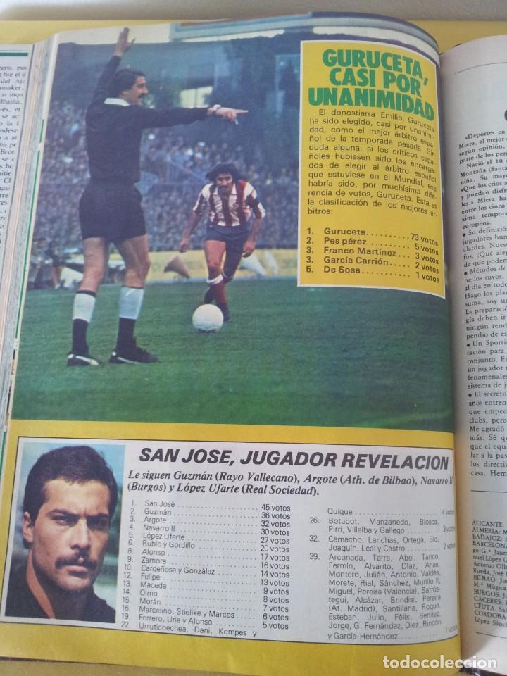 Coleccionismo deportivo: TOMO ENCUADERNADO - REVISTAS DE FUTBOL - VARIOS (ONCE, ÍDOLOS, DEPORTES EN ACCIÓN, AS EXTRA Y FUTGOL - Foto 12 - 219518283