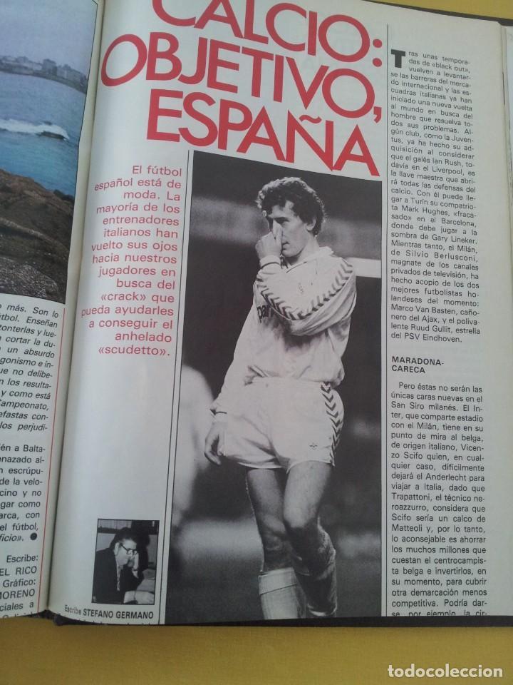 Coleccionismo deportivo: TOMO ENCUADERNADO - REVISTAS DE FUTBOL - VARIOS (ONCE, ÍDOLOS, DEPORTES EN ACCIÓN, AS EXTRA Y FUTGOL - Foto 16 - 219518283