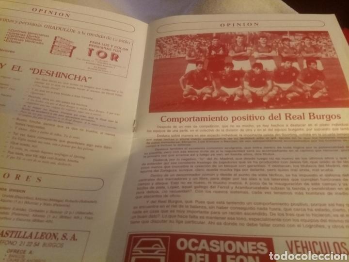 Coleccionismo deportivo: Revista El Plantío. 1990. Referida al partido Burgos - Logroñés . Previa partido Sporting Gijón. - Foto 2 - 219552841