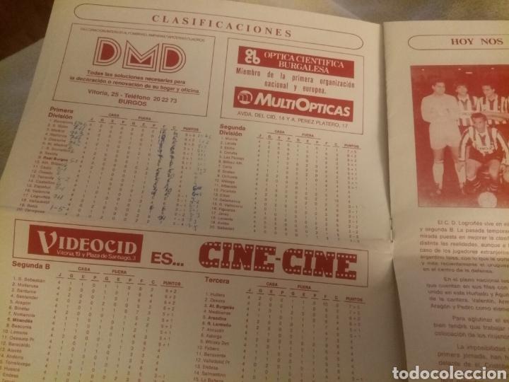 Coleccionismo deportivo: Revista El Plantío. 1990. Referida al partido Burgos - Logroñés . Previa partido Sporting Gijón. - Foto 6 - 219552841